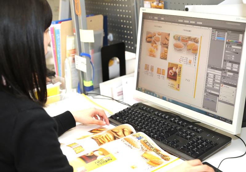 販促・企画デザイナー、販促物の制作補助(和洋菓子店『むか新』の販促物の制作・補助)<br />